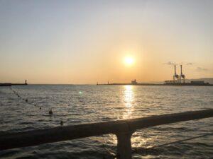 【デート】大阪のシーサイドコスモに彼女と行った感想。夕日がとても綺麗でした